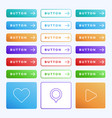 colorful button set on white background three vector image vector image