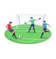 concept playing soccer sport vector image
