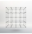 Cube of lines and dots Cube of the lines vector image vector image