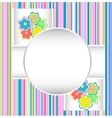 cute happy birthday card with flowers vector image vector image
