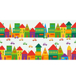 Cute multicolored city pattern vector image vector image