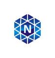 diamond initial n vector image