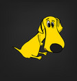 dog character image vector image