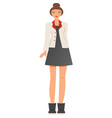 fashionable modern girl in beautiful multi-colored vector image vector image