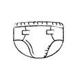 figure baby diaper thet use unterwear vector image vector image