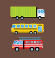 fire truck car cartoon delivery transport cargo vector image vector image