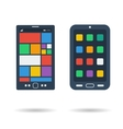 Flat two smart phones icons vector image vector image