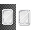 food package foil paper or plastic mockup vector image