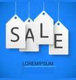 four large white tags with word sale vector image