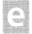 Freehand Typography Letter e vector image vector image