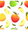 fresh apples seamless pattern freshly harvested vector image vector image