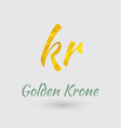 Golden Krone Symbol vector image vector image