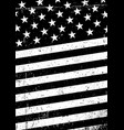 grunge black and white united states of america vector image