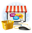 Internet Shop vector image vector image