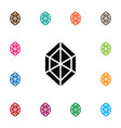 isolated jewel icon brilliant element can vector image vector image