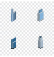 isometric skyscraper set of tower residential vector image vector image
