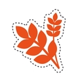 leafs vegan food isolated icon vector image