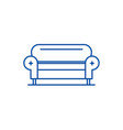 living room sofa line icon concept living room vector image vector image