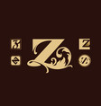 logo set with letter z vector image