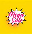 mega sale background in comic style vector image