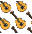 mexican guitar seamless pattern national musical vector image vector image