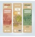 Organic shop banners vector image