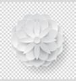 paper volume flower transparent background vector image