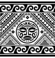 polynesian ethnic seamless pattern vector image vector image