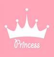princess background with crown stock vector image vector image