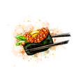 red caviar gunkan sushi vector image vector image