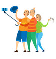 retired people rest on holiday fun pensioners trip vector image vector image