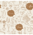 seamless background on tea and coffee vector image vector image