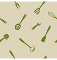 Seamless background with kitchen tools vector image vector image