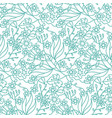 seamless ornate pattern with flowers tropical vector image vector image