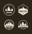 set of mountain and outdoor adventures logo vector image
