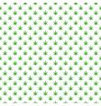 simple marijuana leaf hemp cannabis pattern vector image
