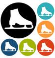 skating icon vector image