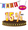 special 15 offer sale tag isolated vector image vector image