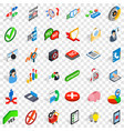 statistics icons set isometric style vector image vector image
