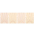 sun with rays in boho style abstract geometric vector image