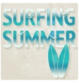 surfing beach summer background vector image vector image