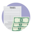 taxation application icon vector image vector image