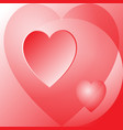 three beautiful red hearts vector image