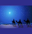 three wise men go for star bethlehem vector image