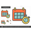timetable line icon vector image