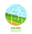 wind power generates energetics vector image