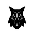 wolf head icon sign o vector image vector image