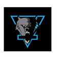 wolf head logo mascot design vector image vector image