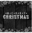Wooden black christmas background with snowflakes vector image vector image