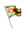 zimbabwe flag on a white vector image